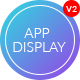 App Display - One Page Parallax App Landing PSD Template - ThemeForest Item for Sale