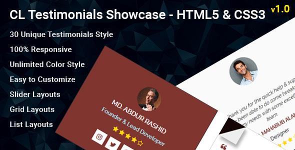 CL Testimonial - HTML Testimonial Showcase