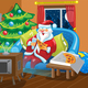 Santa watches TV - GraphicRiver Item for Sale