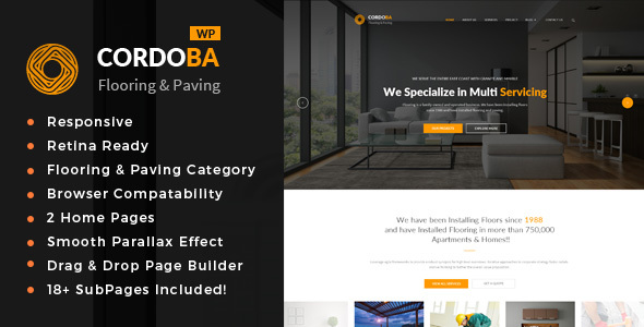 Cordoba : Paving Service WordPress Theme