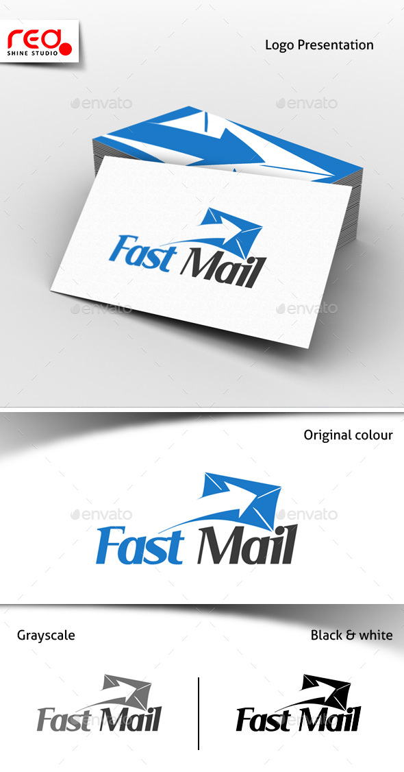 Fast Mail Logo Template