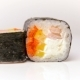 Kandzu Maki Sushi Roll with Flying Fish Roe, Shrimp and Fresh Paprika Japan Food - VideoHive Item for Sale