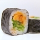 Luxury Restaurant Sushi Dish Piro Maki with Fried Salmon, Onion and Fresh Cucumber - VideoHive Item for Sale