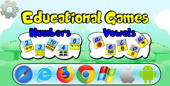 Numbers and Vowels - Educational Games (HTML5 and Mobile)