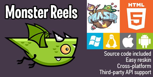 Monster Reels - HTML5 Game - Phaser Download