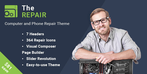 The Repair - Computer and Electronic Repair WordPress Theme