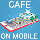 Low Poly Cocktail Cafe on Phone screen - 3DOcean Item for Sale