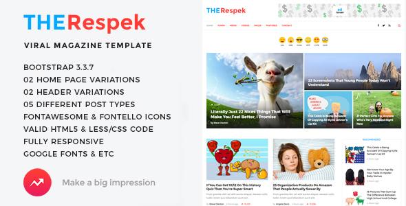TheRespek - Viral Bimber, Buzzy Magazine HTML5 Template