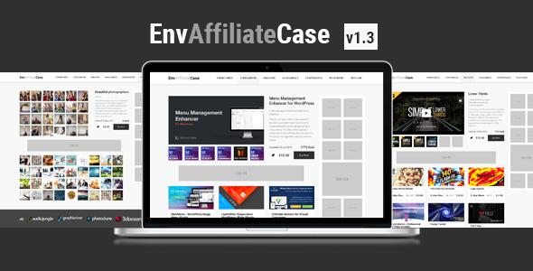 EnvAffiliateCase | Envato Market Affiliate and Item Showcase Plugin Download