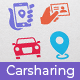 Carsharing Icons - GraphicRiver Item for Sale