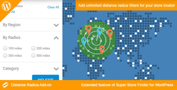 Distance Radius Add-on for WordPress Download
