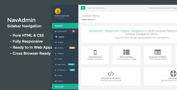 Sidebar Navigation Plugins, Code & Scripts from CodeCanyon