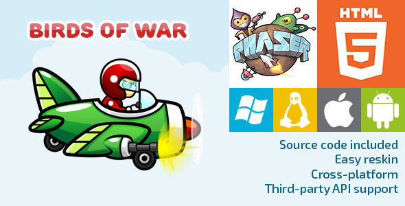 Birds of War - HTML5 Game - Phaser Download