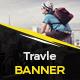Travel Banner Vol.4 - GraphicRiver Item for Sale