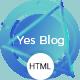 Yes Blog - Multipurpose Minimal Blog Design HTML Template - ThemeForest Item for Sale