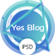 Yes Blog - Minimal Blog Design PSD Template - ThemeForest Item for Sale