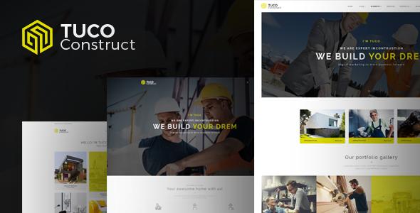 Tuco - Construction Building Company WordPress Theme