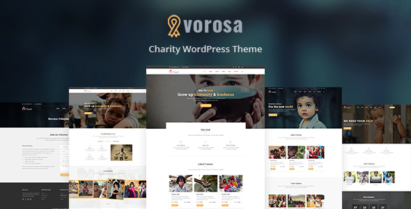Vorosa - Nonprofit Charity WordPress Theme