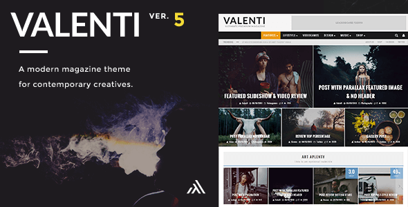 Valenti - WordPress HD Review Magazine News Theme