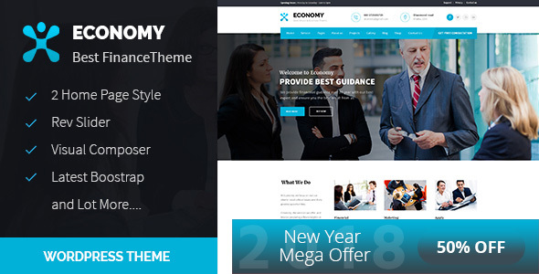 Economy - Finance & Business WordPress Theme