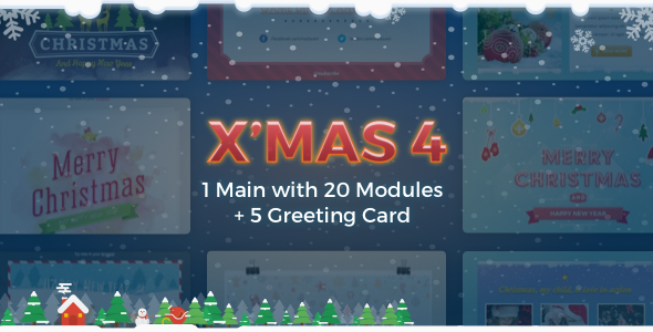 X'mas 4 | Holiday Template + Greeting Card