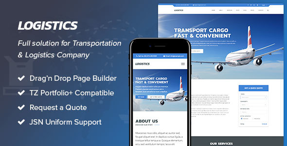 Logistics - Transportation Joomla Template