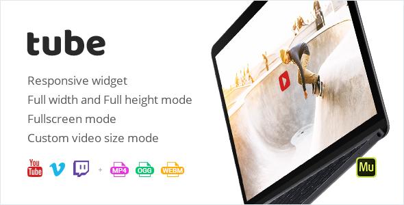 Tube - responsywny widżet wideo Adobe Muse