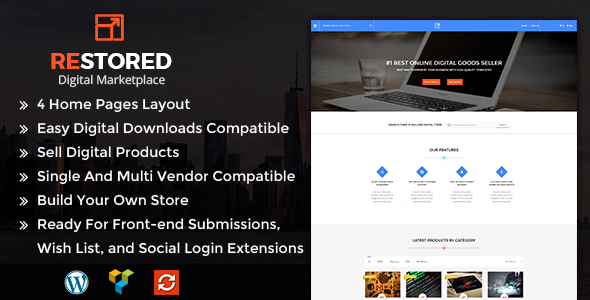 Restored MarketPlace - WordPress Theme