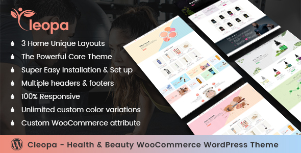Cleopa - Health & Beauty WooCommerce WordPress Theme