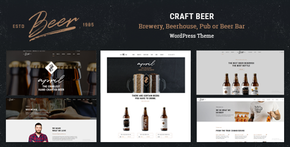 Craft Beer - Brewery & Pub WordPress Theme