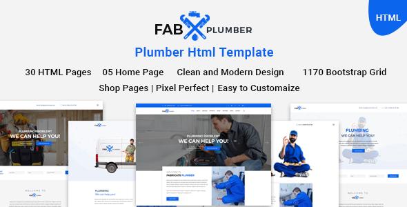 Fab Plumber | Plumber, Construction, Interior HTML5 Template