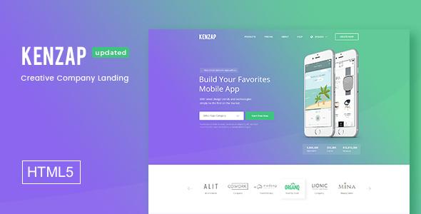 Kenzap - Creative Company Landing HTML5 Template