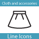 Fashion, Clothes and Accessories Icons - GraphicRiver Item for Sale
