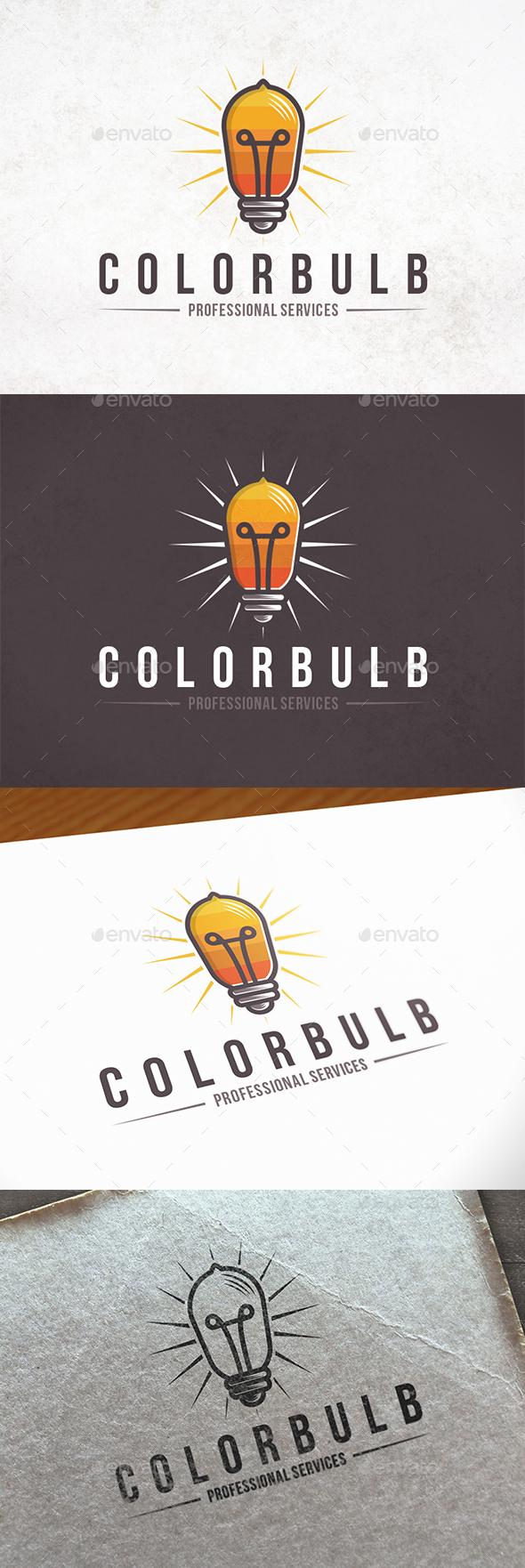 Light Colors Logo Template