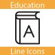 Education Line Icons Set - GraphicRiver Item for Sale