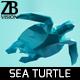 Lowpoly Sea Turtle 001 - 3DOcean Item for Sale