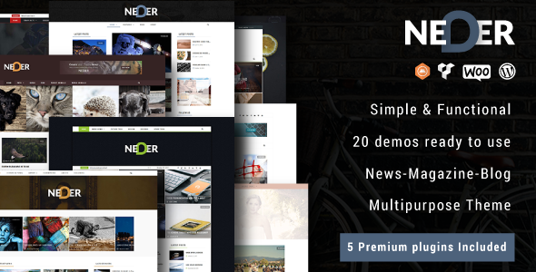 Neder - WordPress News Magazine and Blog Theme