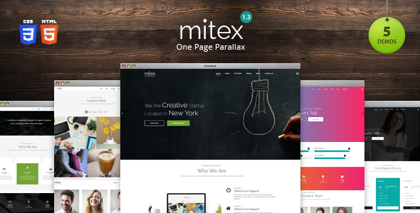 Mitex – One Page Parallax