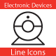 Electronic Devices Line Icons - GraphicRiver Item for Sale