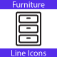 Furniture Line Icons - GraphicRiver Item for Sale