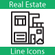 Real Estate Line Icons - GraphicRiver Item for Sale