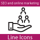 SEO and Marketing Line Icons - GraphicRiver Item for Sale