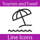 Travel And Tourism Line Icons - GraphicRiver Item for Sale