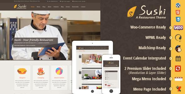 Sushi Restaurant WordPress