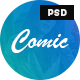 Comic - Personal Blog PSD Template - ThemeForest Item for Sale