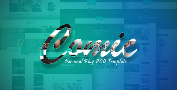 Comic - Personal Blog PSD Template