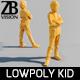 Lowpoly Kid 012 - 3DOcean Item for Sale