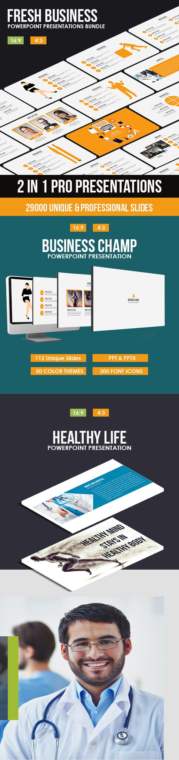 Fresh Business Powerpoint Bundle