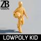 Lowpoly Kid 013 - 3DOcean Item for Sale