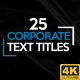 Corporate Titles 4K - VideoHive Item for Sale